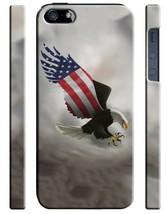 American Patriotic Eagle Flag USA iPhone 4S 5 5S 5c 6 6S 7 + Plus Case C... - $303,02 MXN