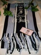 Juicy Couture Ladies Womens Muffler Scarf MSRP $85 Black Gray Grey NWT FP - $22.00