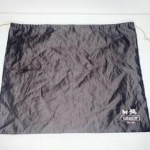 "Coach Brown Silk Drawstring Dust Cover Bag  Pouch Large Cream Logo  19"" ... - $14.46"