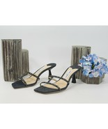 Jimmy Choo Ria 65MM Denim Ribbon Logo Heel Mules Slide Sandals 38.5 8.5 NIB - $295.52