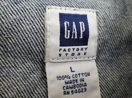 GAP Kids Denim Jean Jacket Coat Long Sleeve Blue Pockets Large Factory Store image 5