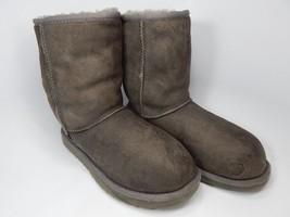 UGG Australia Classic Short Sheepskin Gray Boots Size 7 M (B) EU 38 Model 5825