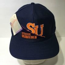 Vintage 90s NCAA Syracuse Orangemen Signature Snapback Cap Hat OSFA NWT - $49.50