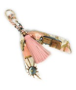 Tassel And Scarf Handbag/purse Charm Women Accessory Key Ring US seller - $12.59