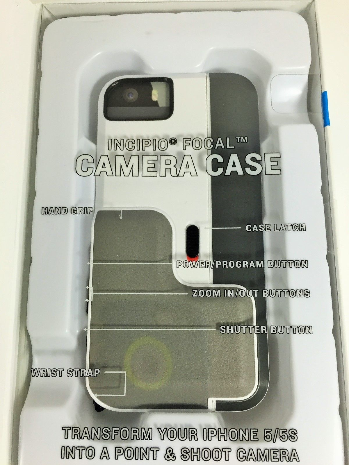 Incipio Focal Bluetooth Low Energy  Camera Case for iPhone 5/5s - White