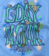 In4mation Mens Carolina Blue G'Day Happy Flower Power Good day T-Shirt NWT image 3