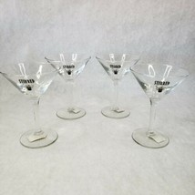 "Pottery Barn Set Of 4 Glass ""Stirred"" Martini Glasses New - $29.69"