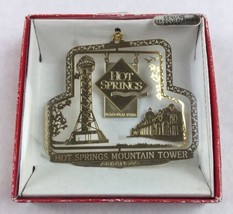 Nations Treasures Hot Springs Mountain Tower AR Brass Metal Souvenir Ornament - $20.00