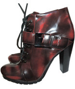 Vince Camuto Ankle Lace Up Combat Buckle Boots Booties 8 / 38 - $99.00