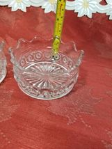 """PAIR OF CANDY DISH WIGGLY EDGE, CIRCLES AND STAR BOTTOM 4"""" X 2"""" image 8"""