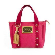 Louis Vuitton Limited Edition Pink Toile Canvas Antigua Cabas MM Tote Bag - $434.61