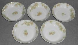 Haviland Porcelain THE COUNTESS PATTERN Set (5) Fruit Bowls LIMOGES FRANCE - $39.59