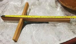 "VINTAGE BRASS CRUCIFIX JESUS ON WOODEN CROSS 9 3/4"" X 6 3/4"" image 9"
