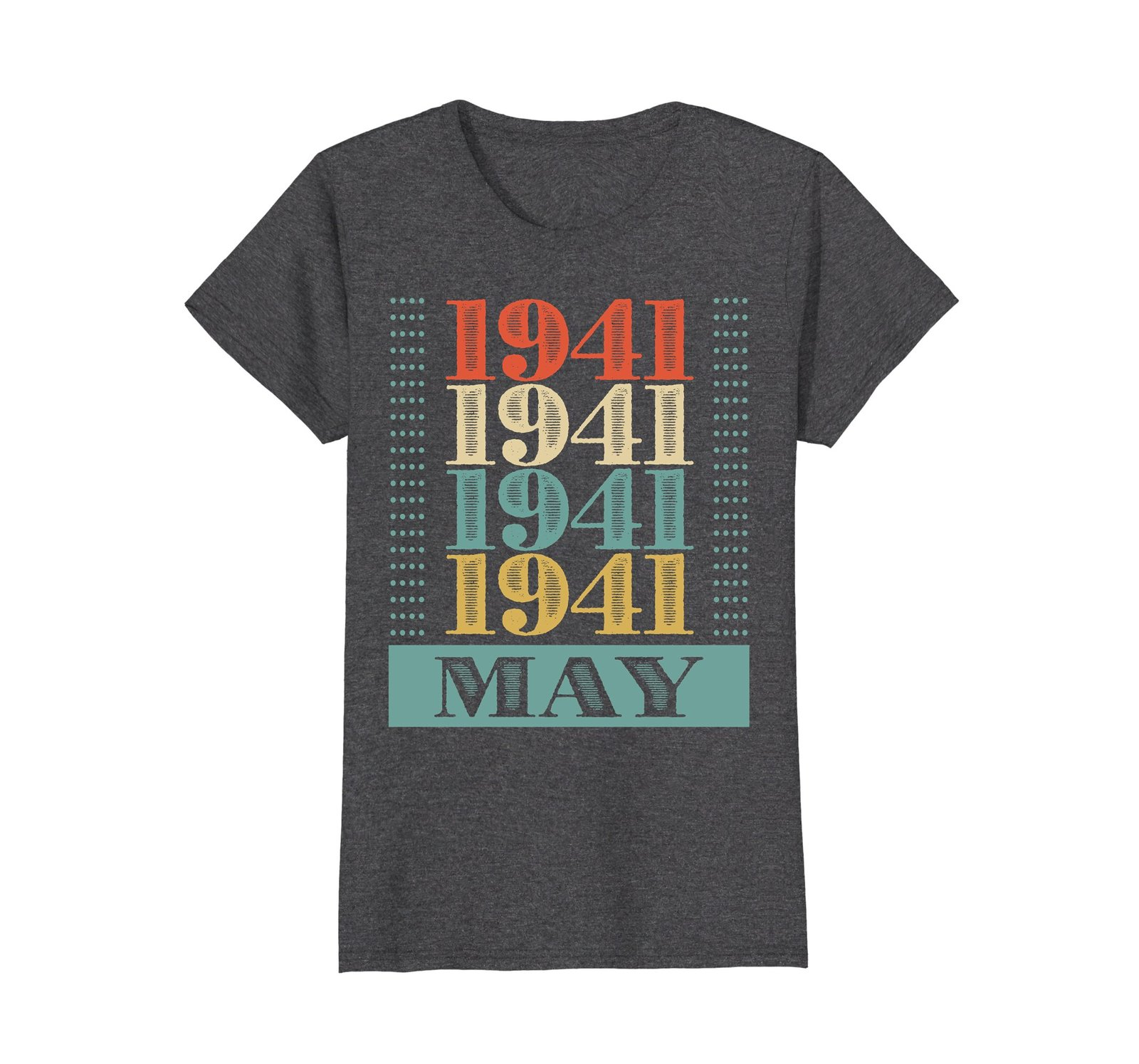 Funny Shirts - Retro Classic Vintage May 1941 77th Birthday Gift 77 yrs old Wowe