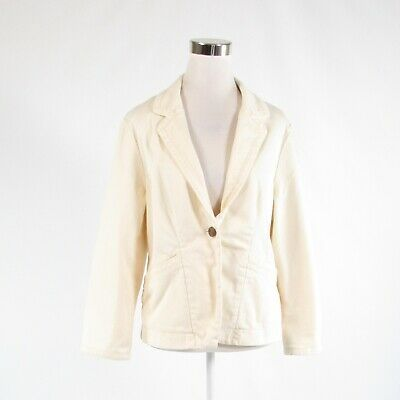 Primary image for Light beige denim ANTHROPOLOGIE CARTONNIER stretch long sleeve blazer jacket 12