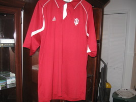 INDIANA HOOSIERS POLO SHIRT(L)EMBRIODED! - $9.99