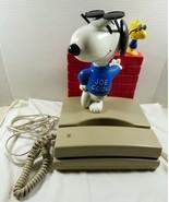 VTG 1991 Seika Peanuts Snoopy Joe Cool & Woodstock Touch Tone Novelty Ph... - $59.40