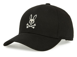 Psycho Bunny Men's Cotton Heritage Strapback Sports Baseball Cap Hat image 2