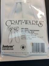 Janlynn 14 Count White Aida Bow Prefinished Cotton 11 X 17 990-6559 Cross Stitch - $12.01