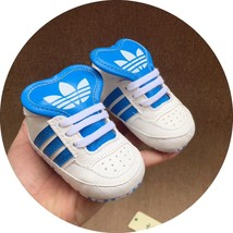 Blue Leather Walking Shoes Soft Bottom Baby Boys Girls Indoor Shoes A193 - $16.99