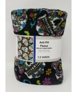 "David Textiles Anti-Pill Pre-Cut Fleece Fabric 54"" x 60"" - New - Skulls - $24.99"
