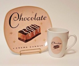 """Vintage Sakura Confections Plate & Coffee Cup - """"Chocolate Creme Candies"""" - $19.99"""