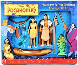 Disney's Pocahontas & Chief Powhatan Action Figure Gift Set # 66510 Free... - $34.64
