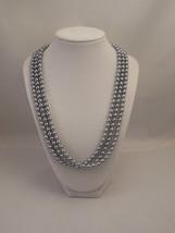 Very Elegant, Wedding Bridal Three Strand, Half Twisted Long Necklace wi... - $58.00
