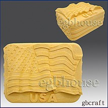 2D Silicone Soap/Candle Mold - The Flag of the United States - free ship... - $28.20