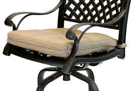 Patio bar stools Set of 4 Outdoor Furniture Nassau Swivel Cast Aluminum Bronze image 6