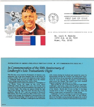 50th Anniversary of Lindbergh's Solo Transatlantic Flight, 1977 Vintage ... - $1.99