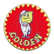Esso Golden Gasoline Cartoon Character Reproduction Round Aluminum Sign