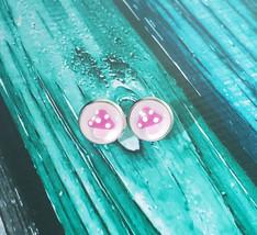 Pink Mushroom Stud Earrings - $7.00