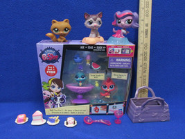 New Littlest Pet Shop Toys Bath Time Fun Vivian Shura & McDonalds Meal Toys Bag - $14.10