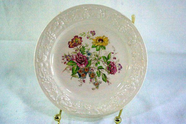 """Homer Laughlin Floral TH6 L47N5 Bread Plate 6 1/8"""""""