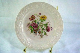 "Homer Laughlin Floral TH6 L47N5 Bread Plate 6 1/8"" - $2.76"
