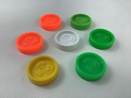 Fisher Price Coins 7pc Lot For Waitress Tray Coin Dispenser Vintage 1984 image 6