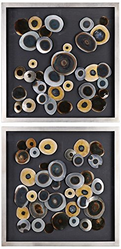 "Primary image for Uttermost Abstract Discs 32"" Square 2-Piece Framed Wall Art Set"