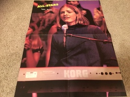 Spice Girls Taylor Hanson teen magazine poster clipping bright lights on stage