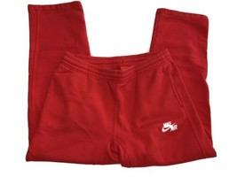 Nike Men's Air Jordan JUMPMAN Air Fleece Pants Gym Red/White Cotton Size... - $37.99