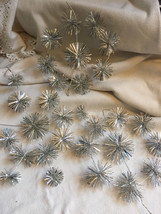 Vintage 3 X Christmas Silver Foil Snowflake Star Decorations - Ceiling ... - $10.59