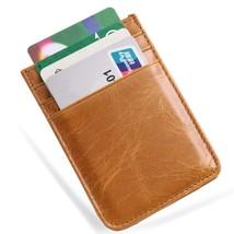 Genuine Leather Super Thin Slim Cash Strap Front Pocket Wallet Credit Card Holde - $17.17
