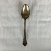"Holmes & Edwards XIV Silver Plate Carolina Pattern 8"" Spoon Pineapple Ta... - $14.85"