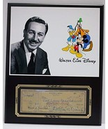 WALT DISNEY MICKEY MOUSE REPRODUCTION SIGNED LIMITED EDITION CHECK DISPLAY - $66.45