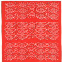 red hearts sheet of peel off stickers  ideal cards, papercraft, displays, scrapb