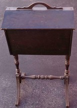 Antique Solid Wood Sewing Box - NEEDS TLC - NICE ANTIQUE - USABLE - COLL... - $118.79