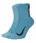Nike Unisex Multiplier Running Ankle Socks (2 Pair) Lg 8-12 SX7556-978 - $24.99