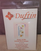 Duftin Animals Birth Sampler Cross Stitch Kit Design #19-891 GREAT FOR B... - $9.96