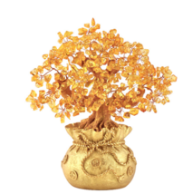 Feng Shui Crystal Wealth Lucky Money Tree Best Gift & Home Good Luck Decoration image 2