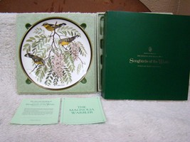 "Franklin Mint Audubon Socty Songbirds of the World Plate ""The Magnolia W... - $21.73"
